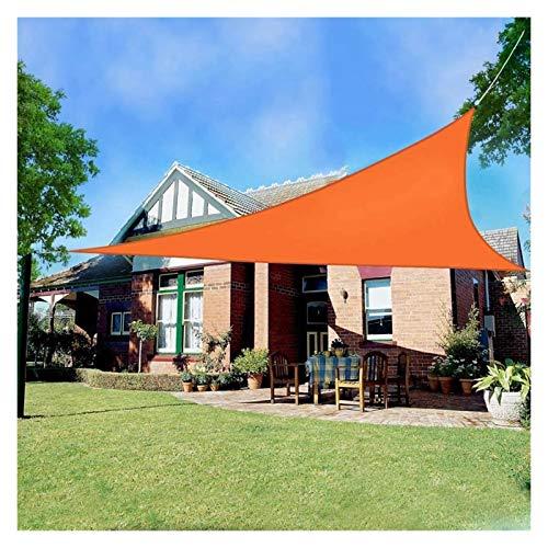 ZXD Toldo Vela De Sombra Triángulo Impermeable 160GSM Poliéster Toldo con Protección Solar 95% De Bloqueo UV para Jardín De Patio Al Aire Libre (Color : Orange, Size : 3x4x5m)