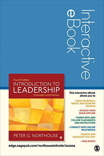 Introduction To Leadership Interactive Ebook Concepts And Practice