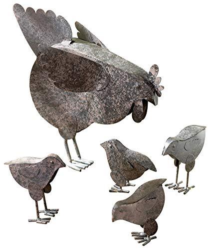 VERDUGO GIFT 31170 Mother Hen & Chicks Country Garden Sculpture Set