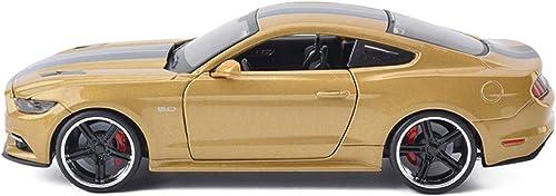 Hyzb Alliage Modèles Voitures 1 24 Ford Mustang GT Original Style Collectionneurs Moulés sous Pression Modèle De Décoration De Voiture Artisanat, Or
