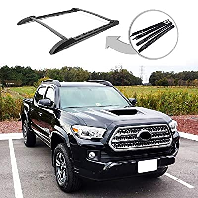 ANTS PART Roof Rack Rails for 2005-2021 Toyota Tacoma Double Cab Cross Bars Black