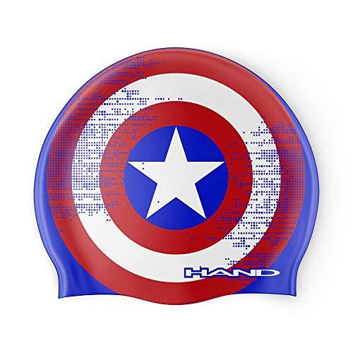HAND SPORT Captain - Gorro de silicona, gorro de piscina, gorro de natación, talla única (azul Royal)