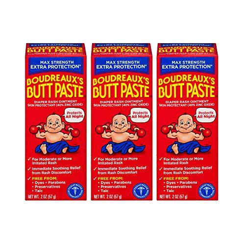 Boudreaux's Butt Paste Maximum Strength Diaper Rash Ointment, 2 oz, 3 Pack