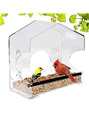 YanyanDz Karmnik Dla Ptaków Z 4 Potezny Ssania Kubki. Z Otworami Odplywowymi. Okno Birdfeeders Dla Malych Ptaków. Akrylowe Jasne Ksztalt Domu