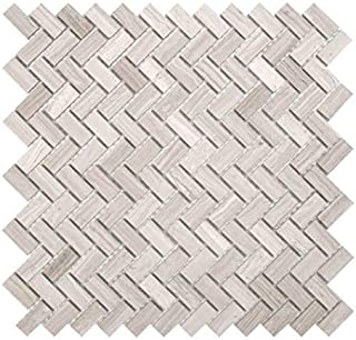 MAYKKE Sadie 10-Pack Small Chevron Mosaic Wall and Floor Tile 12