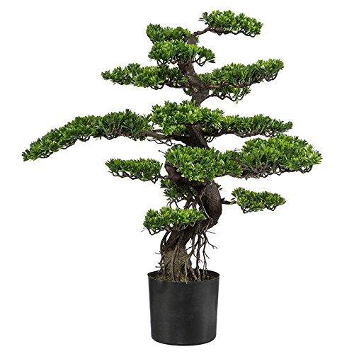 Kunstpflanze Bonsai grün mit Kunststofftopf, ca. 90 cm