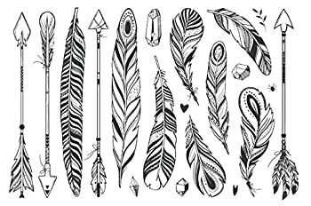 Best geometric feather tattoo Reviews