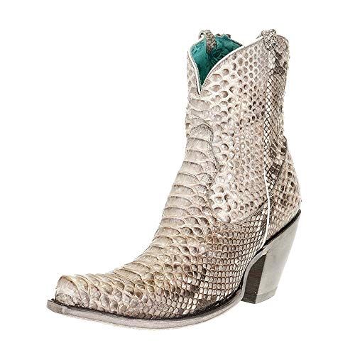 Corral Ld Natural Python Zipper Ankle Boot ,Size 6