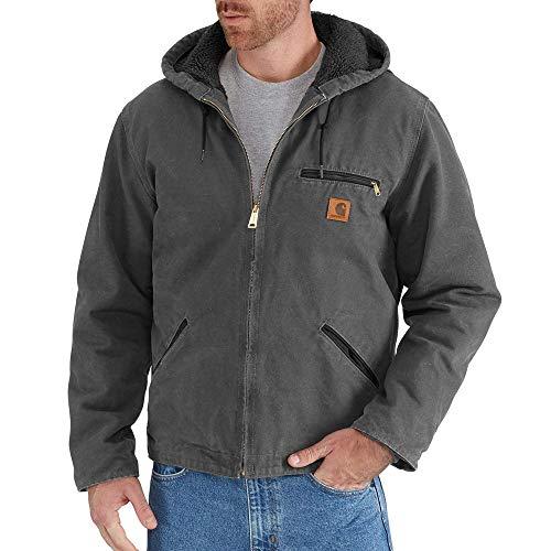 Carhartt Men's J141 Sierra Sandstone Jacket - Sherpa Lined - 4X-Large Tall - Shadow