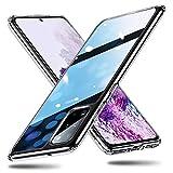 ESR Funda Cristal Templado para Samsung S20 Plus/S20+/S20+ 5G [Parte Trasera de Cristal][Dureza 9H][Marco TPU][Resistente Arañazos][Parachoques Blando] Funda para Samsung Galaxy S20+ Transparente