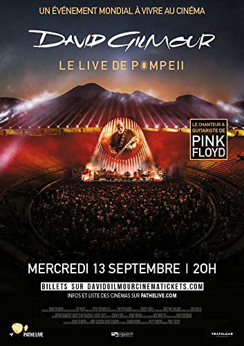 David Gilmour/Live at Pompeii – 2017 – von Gavin Elder/Pink Floyd – 40 x 62 cm