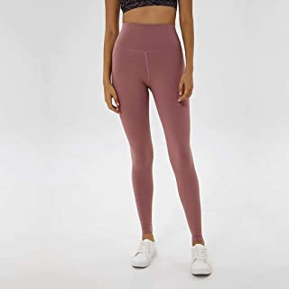 Yoga Pants Women High Waist Lift Hips Tight Elastic Fitness Pants Running Yoga Trousers,Pink(4)