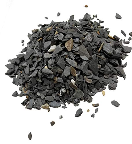 Natural Slate Stone - 1/8 to 1/4 inch Slate Gravel | Perfect for Basing Models, Aquariums, Bonsai and Miniature Gardens, 1lb
