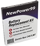 Battery Replacement Kit for Garmin Nuvi 2457LMT with Installation Video, Tools, and Extended Life Battery.