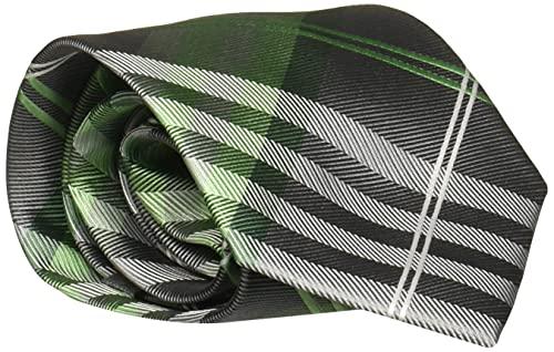 Geoffrey Beene Men's Petros Plaid II Tie, Green, Regular