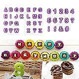zhcoy 40pcs Alphabet Number Letter Fondant...