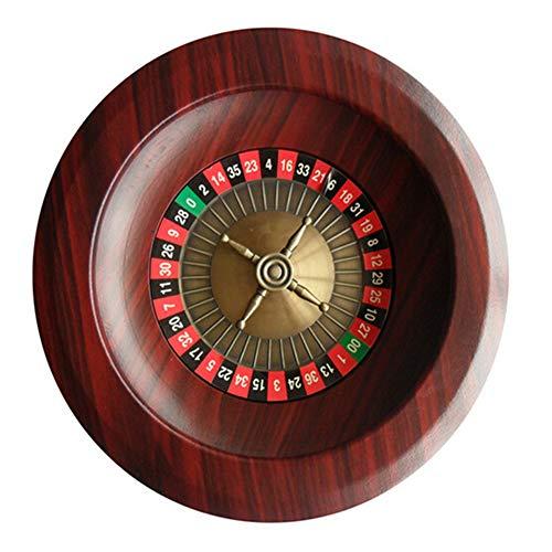 Layla Beauty Store 12 Zoll Holz Roulette Tischspiel Lotterie Plattenspieler Desktop Entertainment Liefert Casino Set Casino Qualität Holz Roulette Rad Holz Plattenspieler,Red Brown