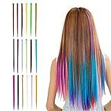 Confezione - Le estensioni per capelli Beautyshow includono 18 pezzi clip da 20 pollici in capelli con 18 colori, ciascuno con clip in metallo galvanizzato per la permanenza in sesure. Perfetto per vestire alla moda ogni giorno, cosplay e feste. Qual...