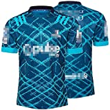 ZYQDRZ Maillot de rugby Highlanders 2020, club de football 2020, respirant, respirant, à séchage rapide, bleu, XXL