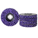 HOMOKUS 5 Pack Stripper Wheel Paint Rust Oxidation Removal Disc Clean for Angle Grinder's Poly Grinding Wheel, Use on Wood, Metal and Fiberglass
