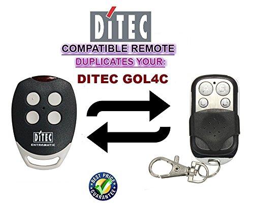 Ditec GOL4C Garagentor Fernbedienung Sender Geeignet, 4 Kanal Kompatibel Handsender, 433.92 Mhz