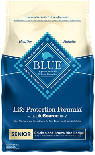 Blue Buffalo Life Protection Formula Senior Dog Food , Natural Dry Dog Food for Senior Dogs , Chicken and Brown Rice , 6 lb. Bag