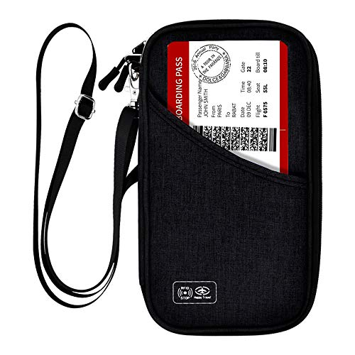 Passport Holder Travel Wallet, 【Zonlicat Waterproof】 Neck Pouch RFID...