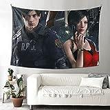 Tapiz para colgar en la pared Resident Evil Tapiz para dormitorio, decoración de pared del hogar, manta de playa de 156 x 222 cm