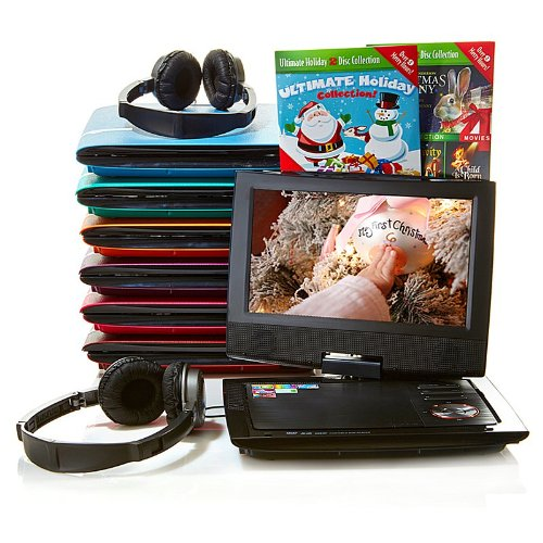 Find Bargain Audiovox 9 Swivel Portable DVD/Media Player Kit
