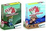 Atomo Games. Pack 2 Juegos Club A. MAX el Detective y Willy el Robot. Juegos educativos de Cartas