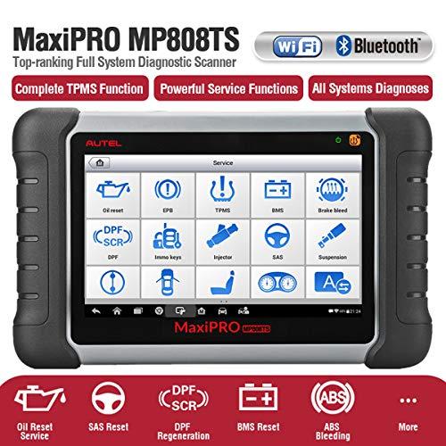 Autel MaxiPRO® MP808TS Herramienta de exploración y diagnóstico avanzado de servicio TPMS Tablet Android™ con pantalla táctil LCD 7 pulgadas 1024x600 hasta 32GB
