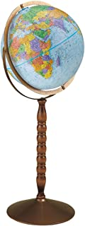 Replogle Treasury 12 Inch Blue Floor Globe w Turned Wood Stand