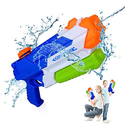 Wasserpistole Spielzeug Kinder, GUBOOM 900ml Wasser Blaster, Pool Wasserspritzpistolen Reichweiter, Kinder Erwachsene Groß Wasserspritzpistolen Spritzpistole Waasergewehr Spritzpistole (900ml x1)