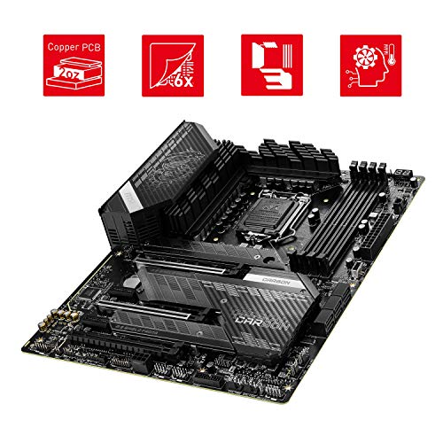 MSI MPG Z590 GAMING CARBON WIFI Scheda Madre gaming ATX Supporta processori Intel Core 11th Gen, LGA 1200 - Mystic Light, 75A VRM, DDR4 Boost (5333 MHz/OC), 2x PCIe 4.0 x16, 3x M.2 Gen4/3 x4, Wi-Fi 6E