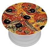 TIZORAX - Soporte para teléfono de pizza y mariscos, extensible, para smartphones y tabletas, 1 unidad