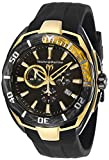 Technomarine Men's Cruise California II Stainless Steel Quartz Watch with Silicone Strap, Black, 25 (Model: TM-118042)