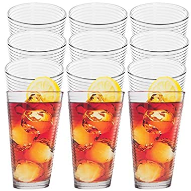 Anchor Hocking (12 Pack)14oz Thick Drinking Glasses Set Clear Glass Beverage Tumbler Glassware Cups