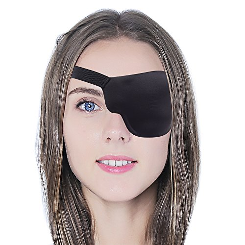 3D Contoured Design: This eye patch was designed for the best fit of all types of face shape. Light weighted breathable material with special padded around nose area to avoid pressure to eyeball. Freely Adjustable: Allow by using stick on elastic str...