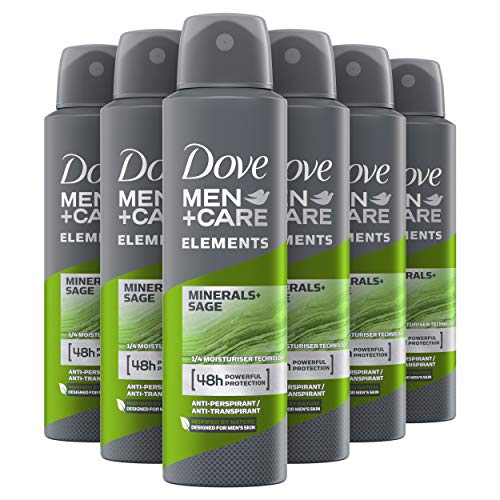 Dove Men+Care Minerals + Sage Anti-transpirant Deodorant Spray 6 x 150 ml Voordeelverpakking