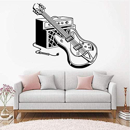 Wandaufkleber Schlafzimmer Dekorative Wandtattoos Rock\'N\'Roll Musikliebhaber Kopfhörer Gitarre Teen Boys Girls Room Diy Party Note Rekord 42X42cm