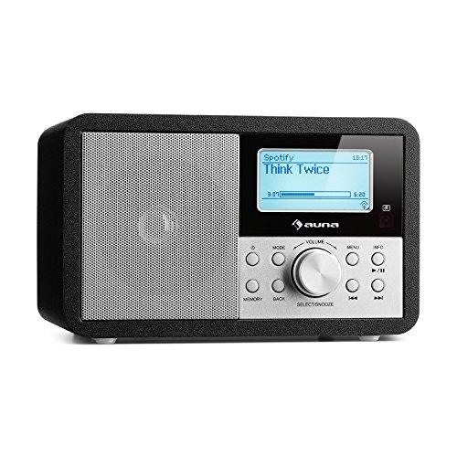 auna Worldwide - Internetradio, Digitalradio, WLAN-Radio, Netzwerkplayer, DAB/DAB+ Tuner, UKW/MW-Empfänger, MP3-USB-Port, Wecker, Sleep-Timer, LCD-Display, Fernbedienung, schwarz