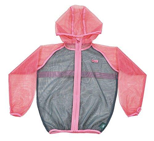 ディックコーポレーション MOTHKEEHI 蚊の嫌がる忌避成分を使用した 着る蚊帳 かや 防虫メッシュパーカー 肌に触れにくいゆったりシルエット Pink, キッズL