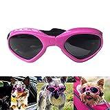 Petleso Pet Goggles Stylish Dog Sunglasses for UV Stop Waterproof Windproof Anti-Fog Eye Protection - Pink