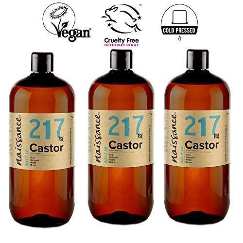 Naissance Huile de Ricin (n° 217) Pressée à froid - 3 Litres (3 x 1L) – 100% pure, végan, sans hexane, sans OGM
