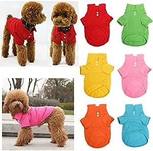Bazaar Pet Dog Collar Puppy Polo T-Shirt Clothes Outfit Apparel Coat Cotton