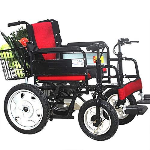 Fire Cloud hoogwaardige elektrische rolstoel, ultradraagbare gemotoriseerde mobielheidsstoel, slim met boodschappenmand, terreinwagen op vier wielen