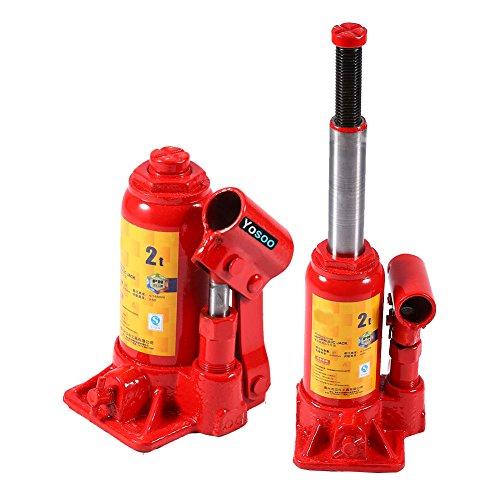 Zerone Cric Hydraulique, 2T / 3T / 6T / 8T Cric Bouteille Hydraulique Levier de Véhicule à Pompe Hydraulique Changement Pneu Bricolage Voiture (2T)