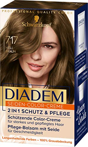 Diadem Seiden-Color-Creme 717 Hellbraun Stufe 3, 3er Pack(3 x 170 ml)