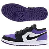 Jordan Air 1 Low (White/Black-Court Purple 9)