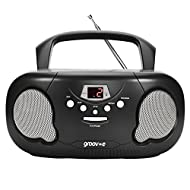 SUPPORTS CD, CD-R and CD/RW Playback - This compact CD Boombox player supports all three types of CD functionalities whether they've been recorded on over and over again AM/FM RADIO - This boombox player also features AM/FM radio stations that you ca...